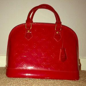 Red Louis Vuitton Alma Purse